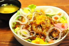 大豆ミート丼…¥900